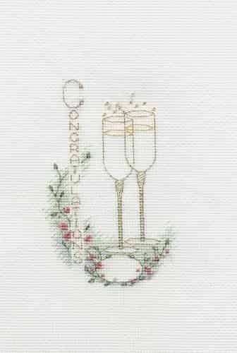 Derwentwater Designs Cross Stitch Kit - Congratulations Greetings Card