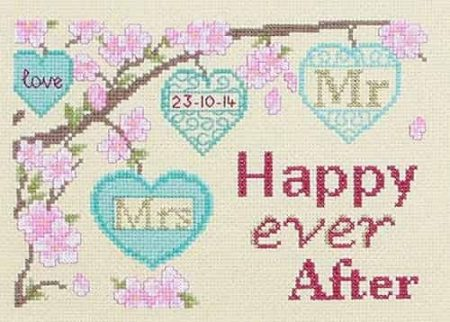 Twilleys of Stamford Cross Stitch Kit - Happy Ever After - Wedding