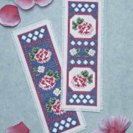 Twilleys of Stamford Cross Stitch Kit - Twilight Roses Bookmarks - Pack of 2