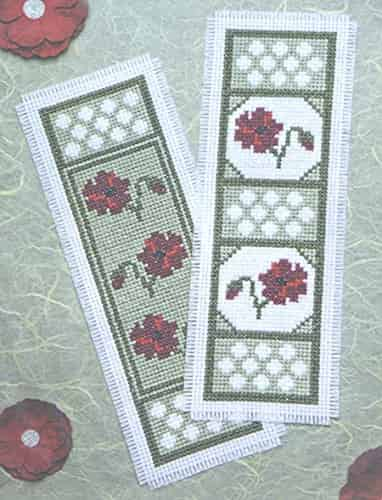 Twilleys of Stamford Cross Stitch Kit - Poppy Dawn Bookmarks - Pack of 2