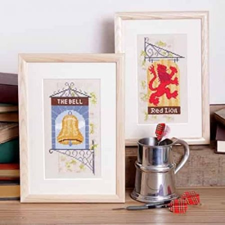 Twilleys of Stamford Cross Stitch Kit - Down at the Pub, Pub Signs