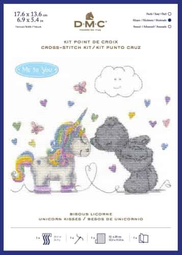 DMC Cross Stitch Kit - Tatty Teddy - Me To You - Unicorn Kisses - BL1191/72