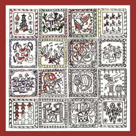 Design Works Zenbroidery 12 Days of Christmas Fabric Pack, Embroidery