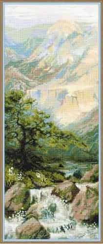 Riolis Cross Stitch Kit - Mountain River - 1543