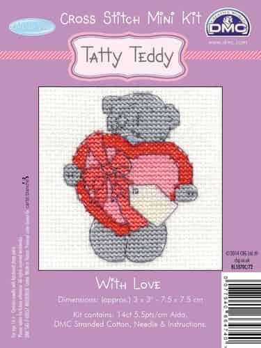DMC Mini Cross Stitch Kit - Me to You - Tatty Teddy - With Love BL1070c/72