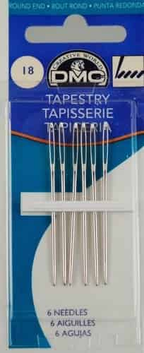 DMC Tapestry needles Size 18 Pack of 6