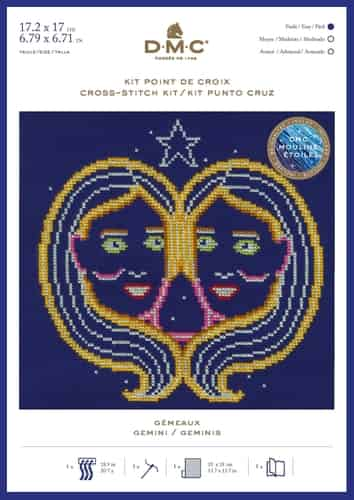 DMC Cross Stitch Kit - Zodiac Signs, Gemini BK1864