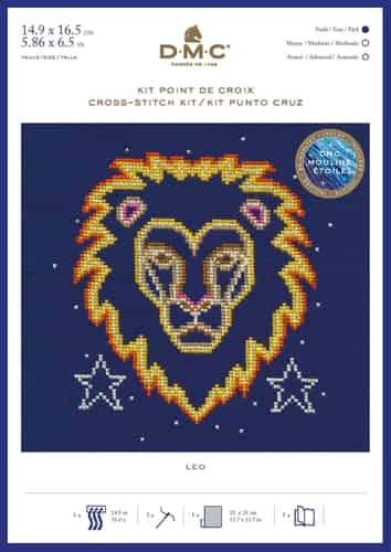 DMC Cross Stitch Kit - Zodiac Signs, Leo BK1866