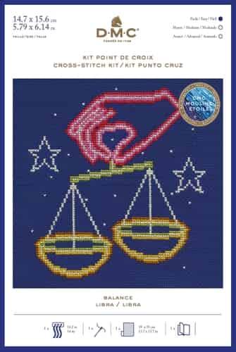 DMC Cross Stitch Kit - Zodiac Signs, Libra BK1868