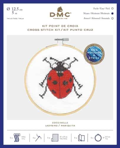 DMC Cross Stitch Kit - Garden Discoveries - Ladybird BK1891