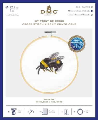 DMC Cross Stitch Kit - Garden Discoveries - Bumble Bee BK1892