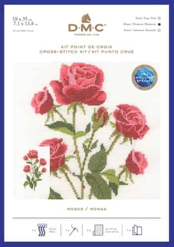 DMC Cross Stitch Kit - Red Rose BK1893