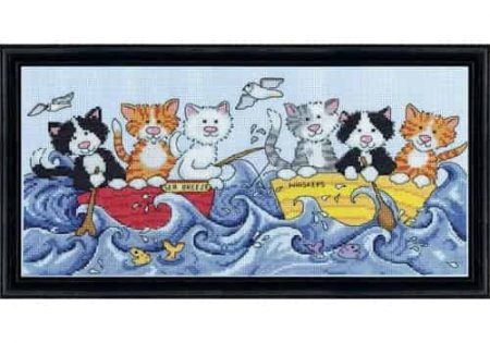 Design Works Cross Stitch Kit - At Sea Cats