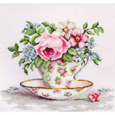 Luca S Cross Stitch Kit - Blooms in a Teacup B2321