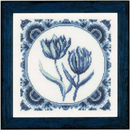 Lanarte Cross Stitch Kit - Delft Tulips