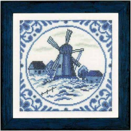 Lanarte Cross Stitch Kit - Delft Windmill