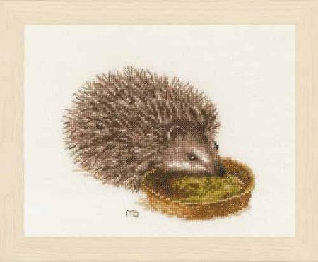 Lanarte Cross Stitch Kit - Hedgehog