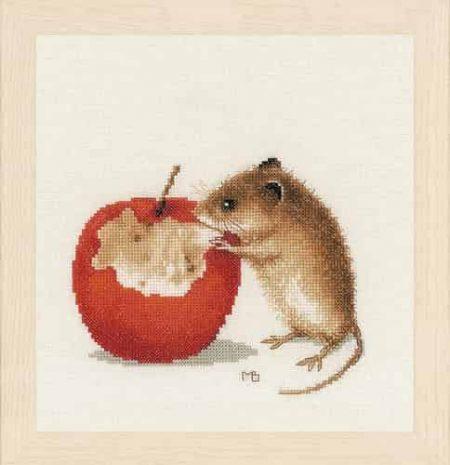 Lanarte Cross Stitch Kit - Little Mouse