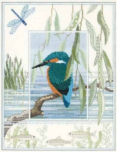 Derwentwater Designs Cross Stitch Kit - Kingfisher