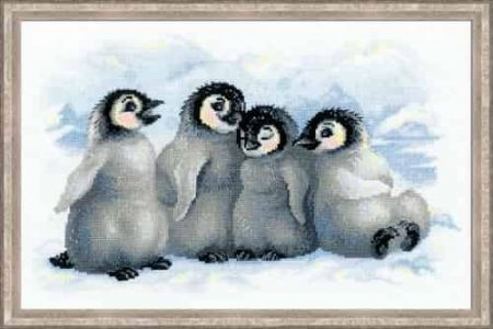 Riolis Cross Stitch Kit - Funny Penguins 1323