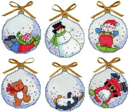 Design Works Cross Stitch Kit  Christmas Tree Ornaments - Bubbles