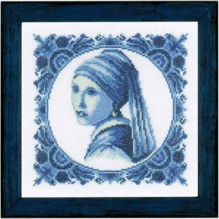 Lanarte Cross Stitch Kit - Girl with a Pearl, Painting, Johannes Vermeer