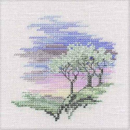 Derwentwater Designs Cross Stitch Kit - Minuets - Frosty Trees