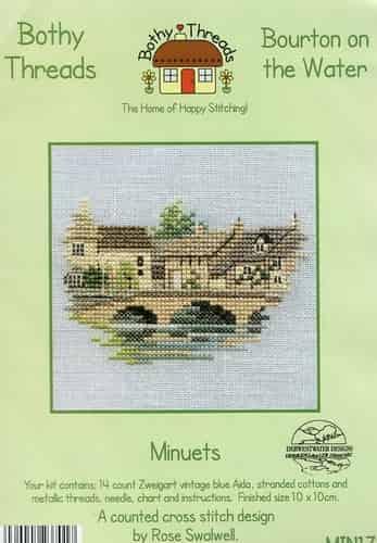 Derwentwater Designs Cross Stitch Kit - Minuets - Bourton on the Water