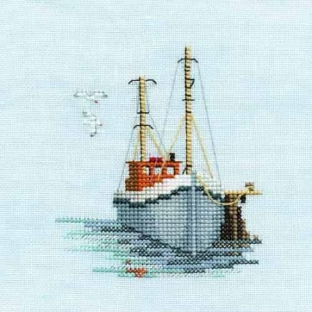 Derwentwater Designs Cross Stitch Kit - Minuets - Fishing Boat