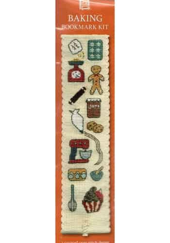 Textile Heritage Cross Stitch Kit - Bookmark - Baking - Made in Scotland