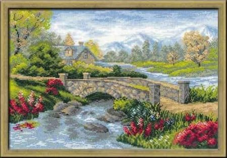 Riolis Cross Stitch Kit - Summer View, River 1078