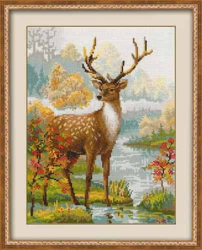 Riolis Cross Stitch Kit - Deer 1077