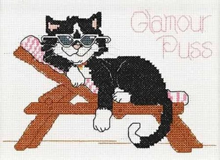 Janlynn Cross Stitch Kit - Suzys Zoo - Glamour Puss