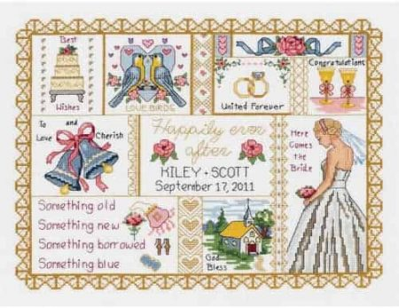 Janlynn Cross Stitch Kit - Wedding Collage