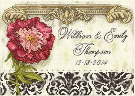 Dimensions Gold Petites Cross Stitch Kit - Elegant Wedding Record