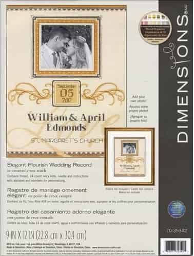 Dimensions Cross Stitch Kit - Elegant Flourish Wedding Record