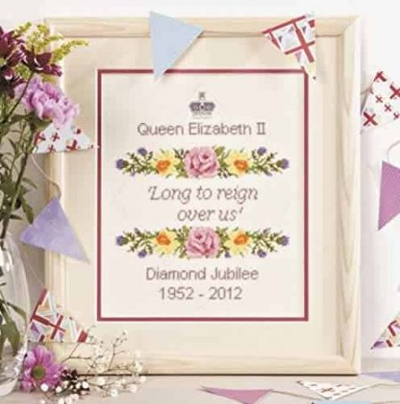 Twilleys of Stamford Cross Stitch Kit - Queen Elizabeth Diamond Jubilee