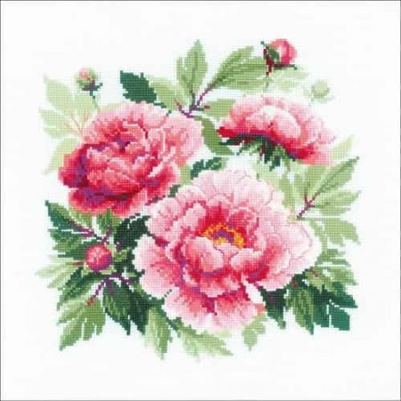 Riolis Cross Stitch Kit - Tree Peony, Flowers 1854