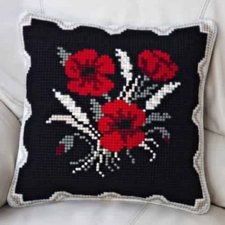 Twilleys of Stamford Cushion Front Cross Stitch Kit - Poppies and Corn