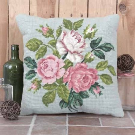 Twilleys of Stamford Cushion Front Tapestry Kit - Rose Spray