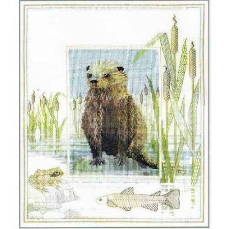 Derwentwater Designs Cross Stitch Kit - Otter