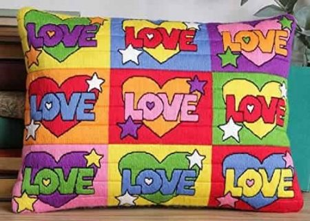 Twilleys of Stamford Cushion Front Long Stitch Kit - Psychedelic Love