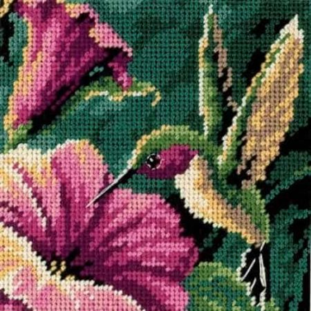 Dimensions Needlepoint Tapestry Kit -- Hummingbird Drama