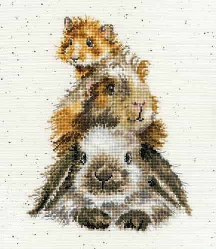 Bothy Threads Cross Stitch Kit - Piggy in the Middle XHD65
