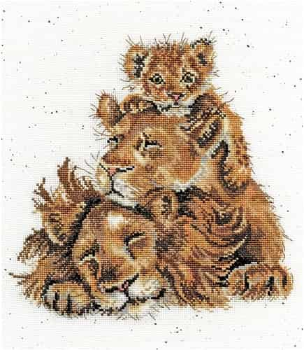 Bothy Threads Cross Stitch Kit - Family Pride, Lions XHD66