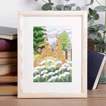 Twilleys of Stamford Long Stitch Kit - Hares in Meadow
