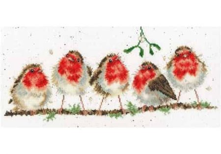 Bothy Threads Cross Stitch Kit - Rockin' Robins, Christmas XHD69