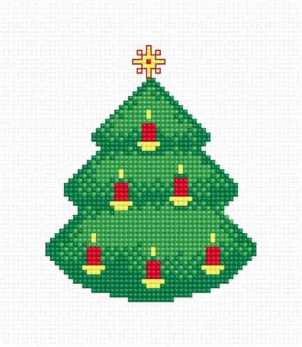 Luca S Cross Stitch Kit -  Candle Christmas Tree B091