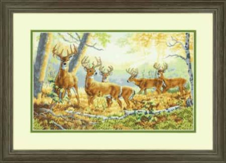 Dimensions Gold Cross Stitch Kit - Summer's End, Stags