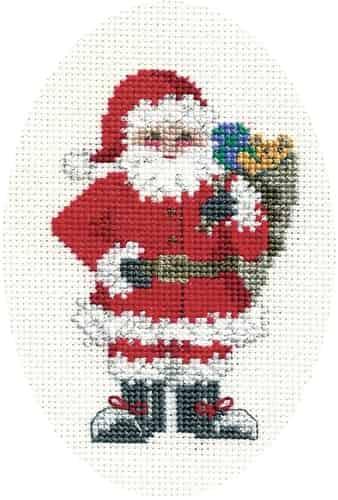 Derwentwater Designs Cross Stitch Kit - Christmas Card, Santa's Sack